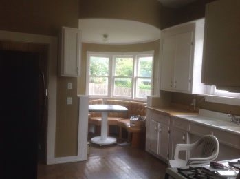 the kitchen as it looks now, in my recently purchased 100 year old house (renovated by previous owners to some extent)
