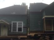 House cut in half