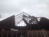 You can see the old roof shingles, it had a roof inside a roof,